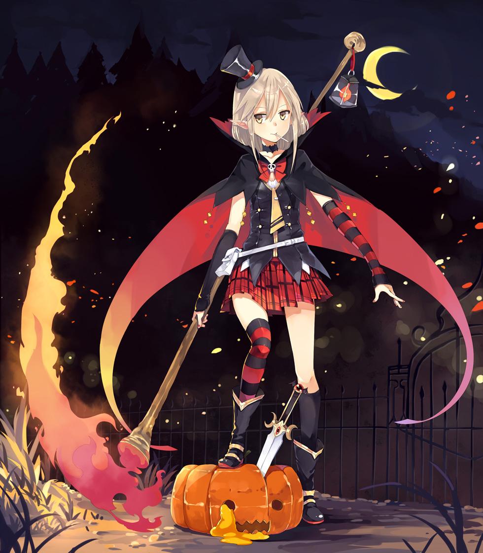 10-Amazing-Halloween-Pixiv-Artworks-#1_Halloween_ハオ提督_Haruhichan.com