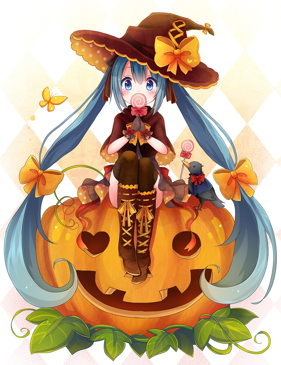 10-Amazing-Halloween-Pixiv-Artworks-#3_ハロウィンミク_すのみ_Haruhichan.com