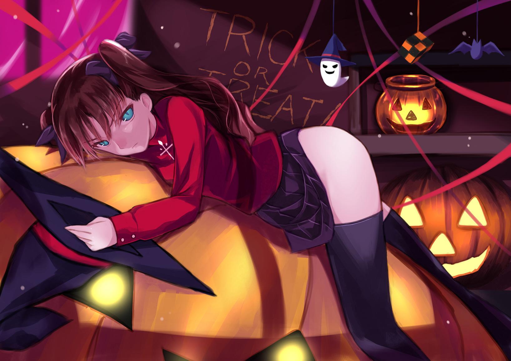 10-Amazing-Halloween-Pixiv-Artworks-#5_遠坂さんからハロウィンへの誘い_香月☆一_Haruhichan.com