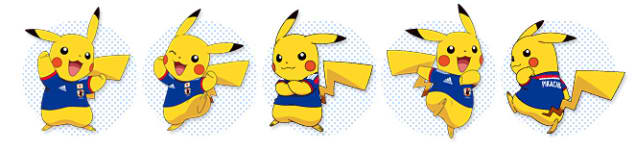 2014 World Cup Japan Team with Pikachu 2