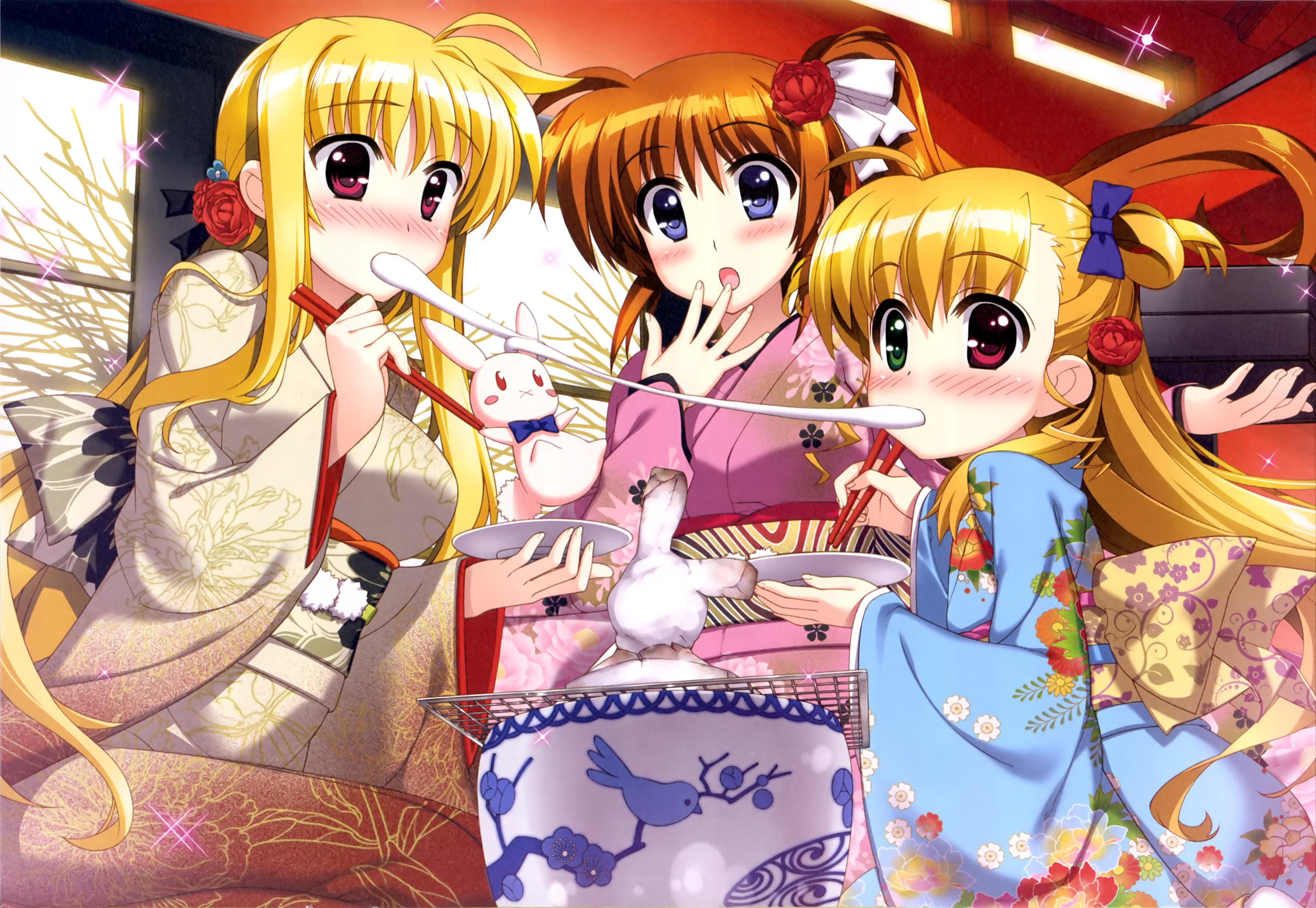 2015 New Year Greetings Anime Style haruhichan.com Mahou Shoujo Lyrical Nanoha ViVid