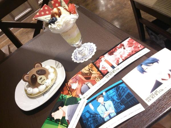 Adorably Crafted Sweets Inspired by Gekkan Shoujo Nozaki-Kun Anime Haruhichan.com Monthly Girls Nozaki-kun Japanese pastry shop Patisserie Swallowtail goodies