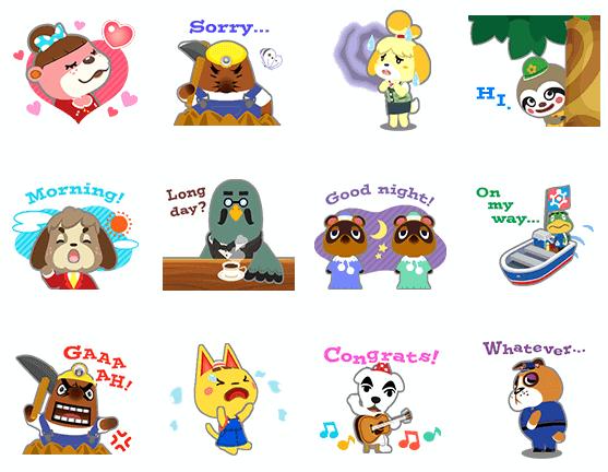Animal Crossing Line Sticker Debut 2