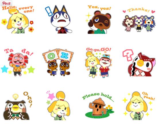 Animal Crossing Line Sticker Debut