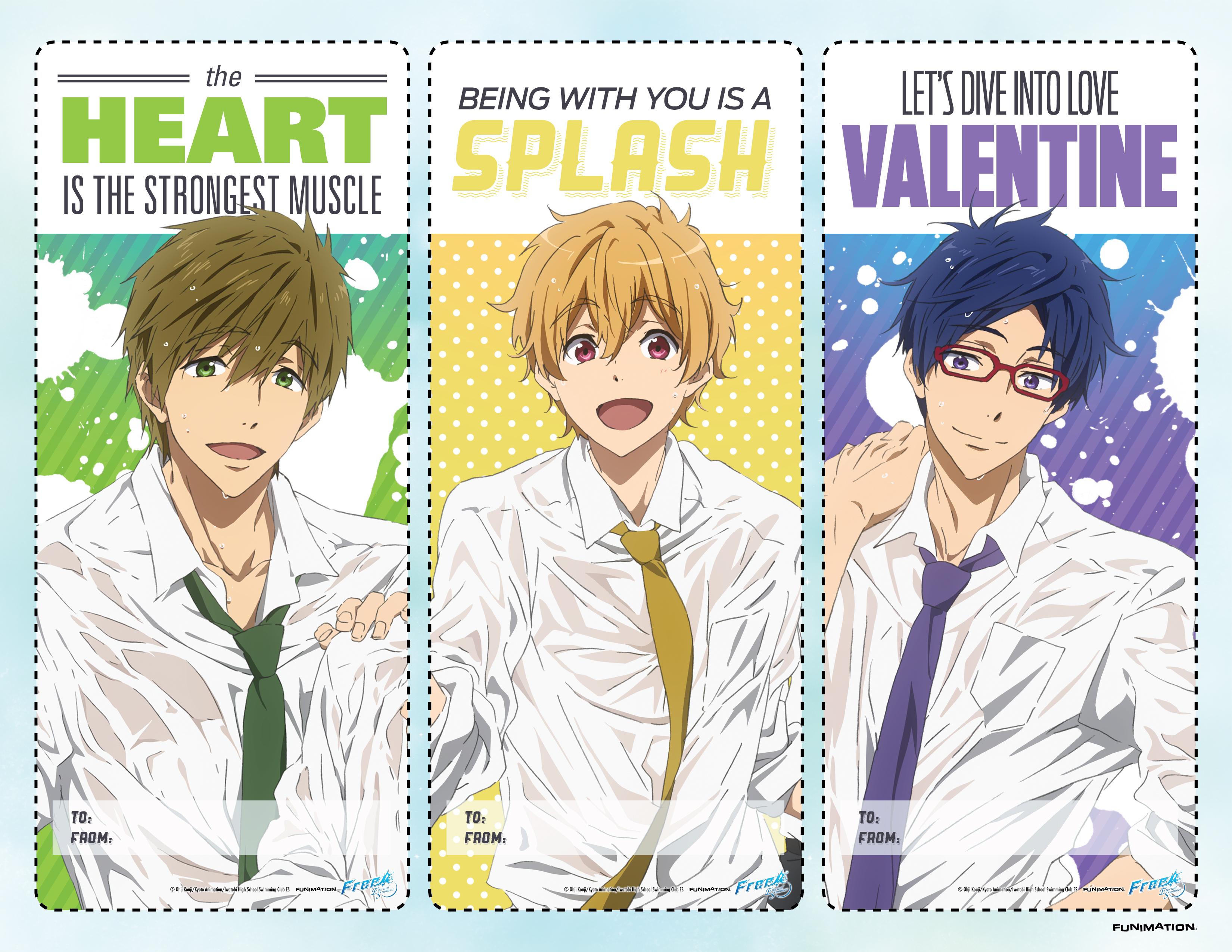 Anime Valentine's Day Cards haruhichan.com Free eternal summer