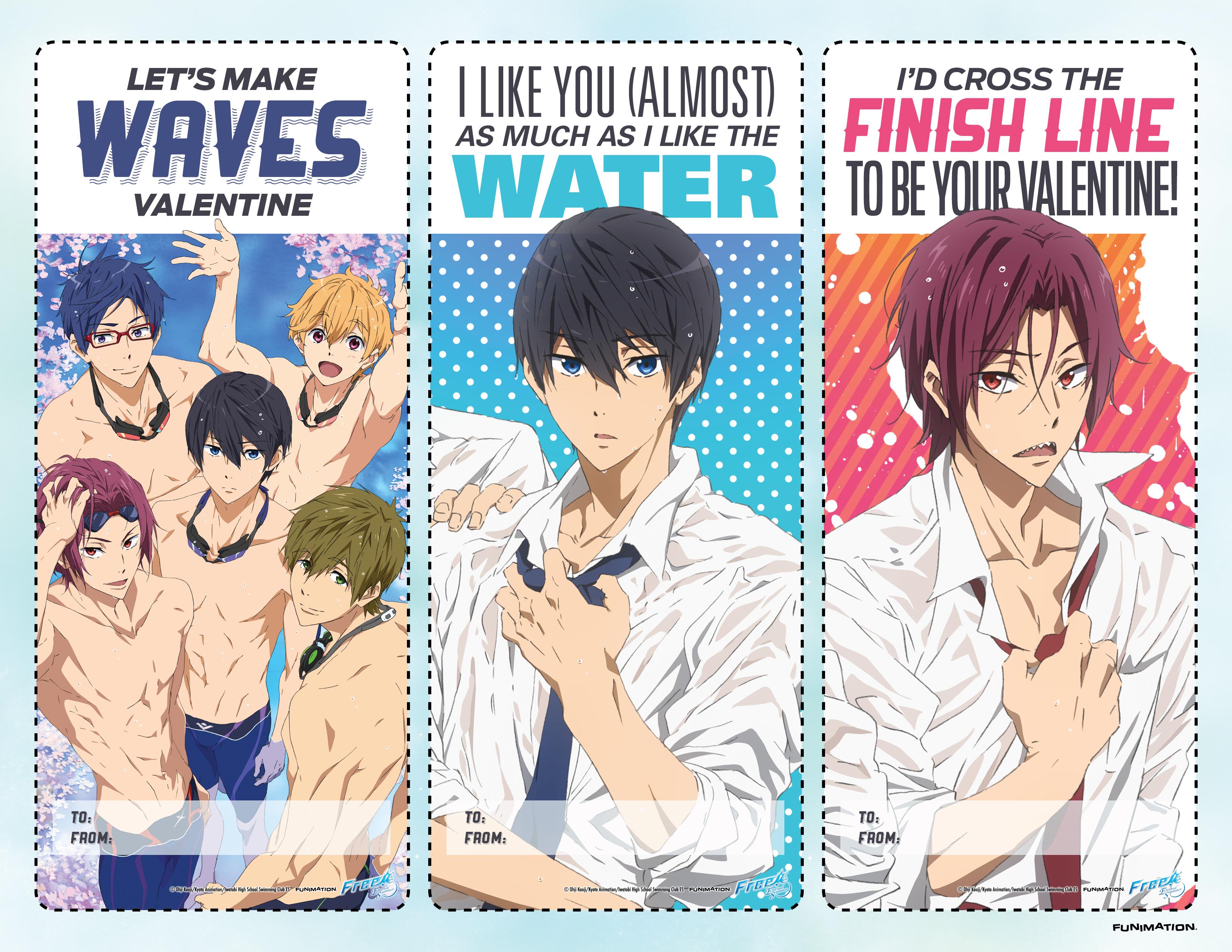 Anime Valentine's Day Cards haruhichan.com Free!