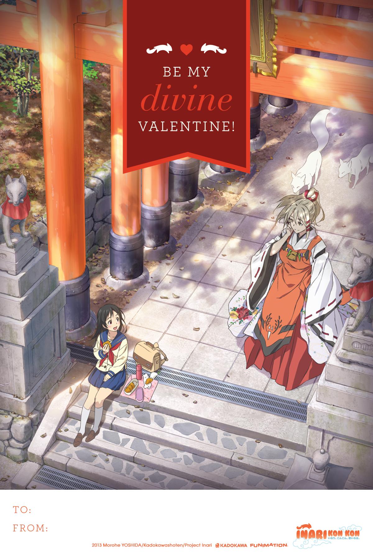 Anime Valentine's Day Cards haruhichan.com Inari Konkon Koi Iroha