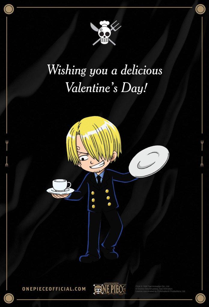 Anime Valentine's Day Cards haruhichan.com One Piece 2