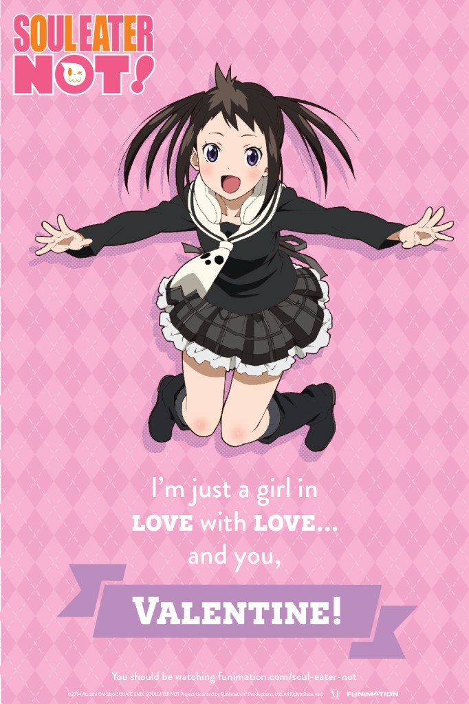 Anime Valentine's Day Cards haruhichan.com Soul Eater Not