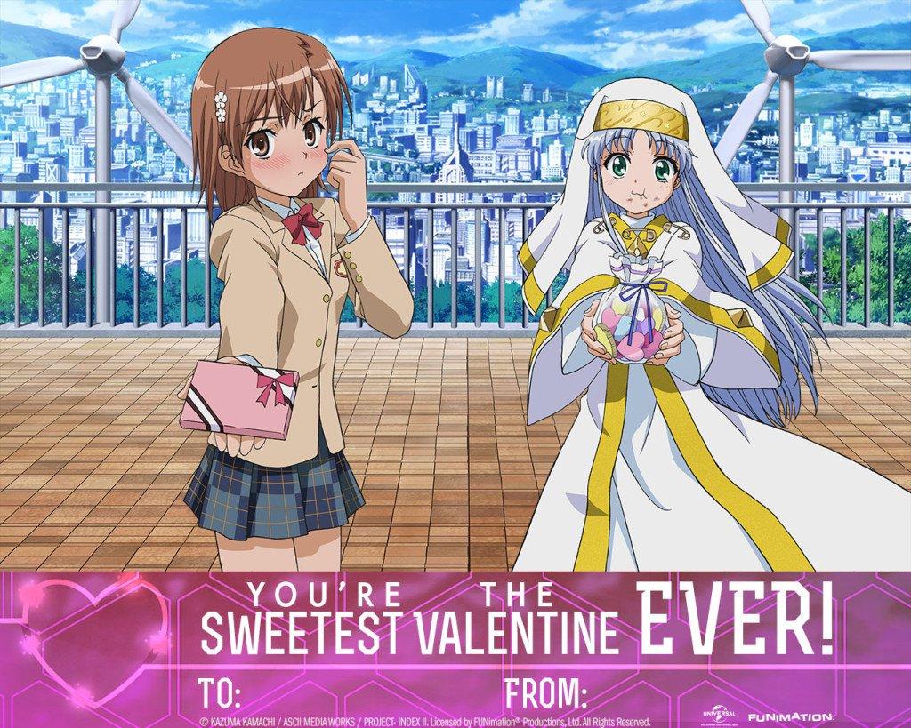 Anime Valentine's Day Cards haruhichan.com Toaru Majutsu no Index