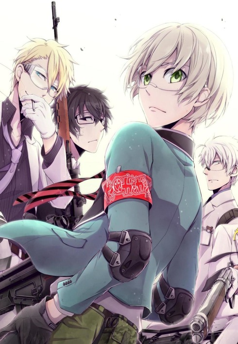Aoharu x Kikanjuu anime visual