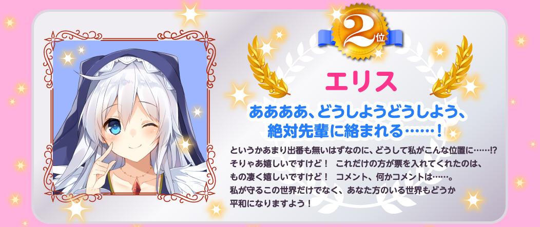 Aqua Only 4th KonoSuba Official Character Popularity Ranking Results eris