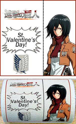 Attack on Mikasa Ackerman Valentine cake roll