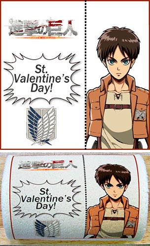 Attack on Titan Eren Jaeger Valentine cake roll