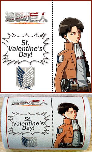 Attack on Titan Levi Valentine cake roll