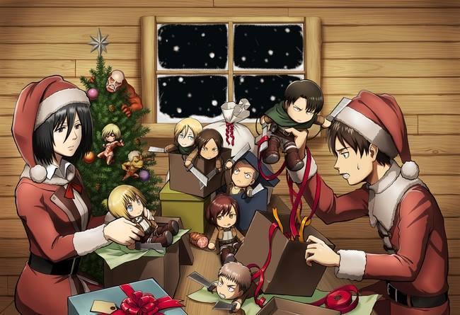 Attack on Titan Wings of Counterattack Christmas Event haruhichan.com Shingeki no Kyojin Wings of Counterattack Christmas Event visual anime