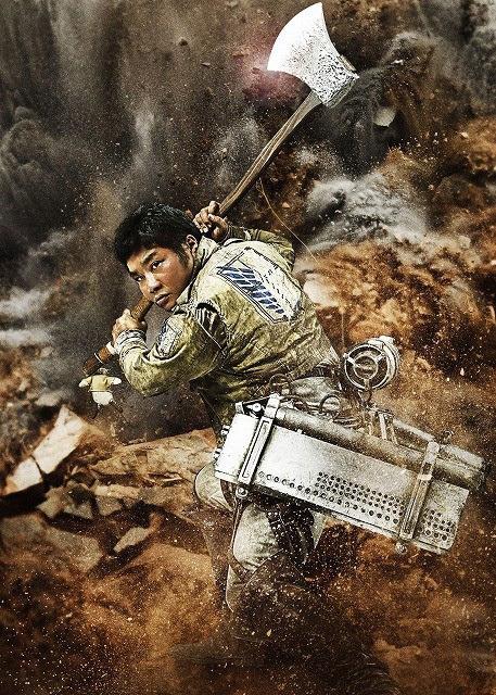 Attack on Titan live-action movie Satoru Matsuo as Sannagi