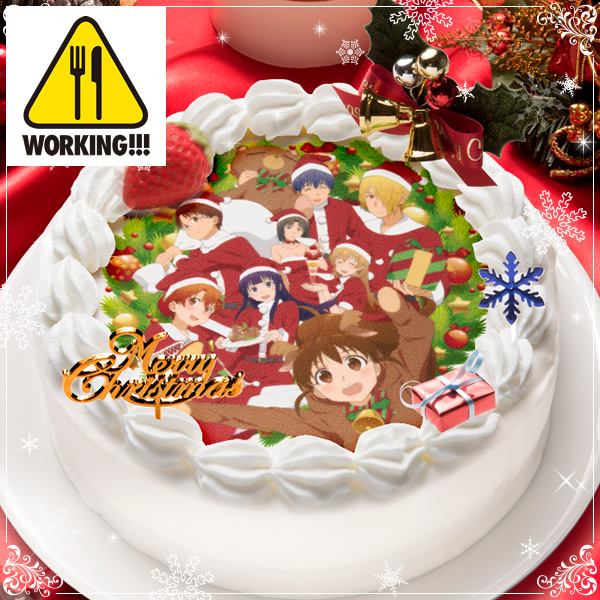 Celebrate Christmas with Madoka Magica Durarara!! and Other Anime Christmas Cakes Anime Sugar 2015 christmas cakes Working!!! 1