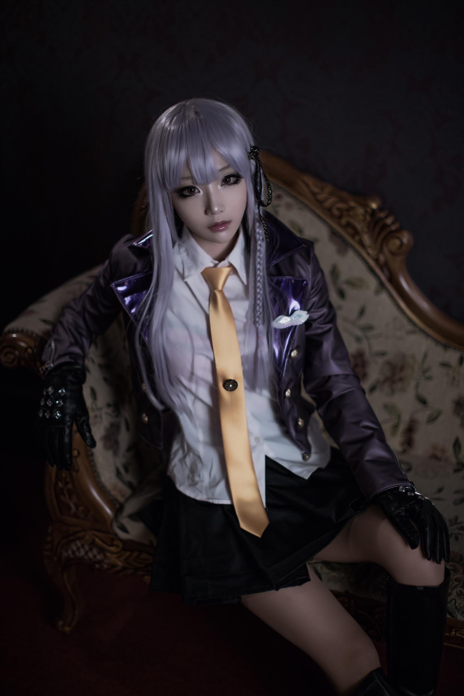 Classy Kyouko Kirigiri Cosplay by Aza Miyuko haruhichan.com Danganronpa Kibou no Gakuen to Zetsubou no Koukousei Kyouko Kirigiri cosplay 02