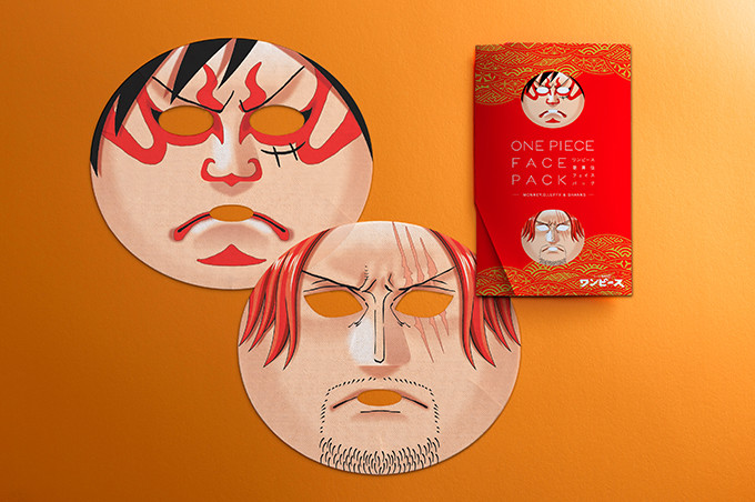 Cosplay as Luffy or Shanks from One Piece with These Beauty Face Masks