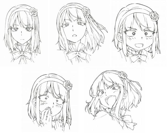 Dagashi Kashi anime character design Hotaru Shidare 2