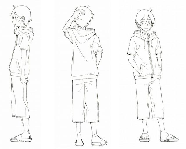 Dagashi Kashi anime character design Kokonotsu shikada