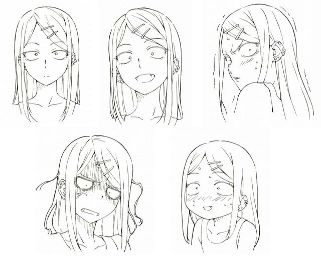 Dagashi Kashi anime character design Saya Endou 2