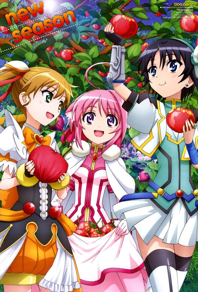 Dog Days 3 Haruhichan.com Newtype February 2015 posters Dog Days season 3
