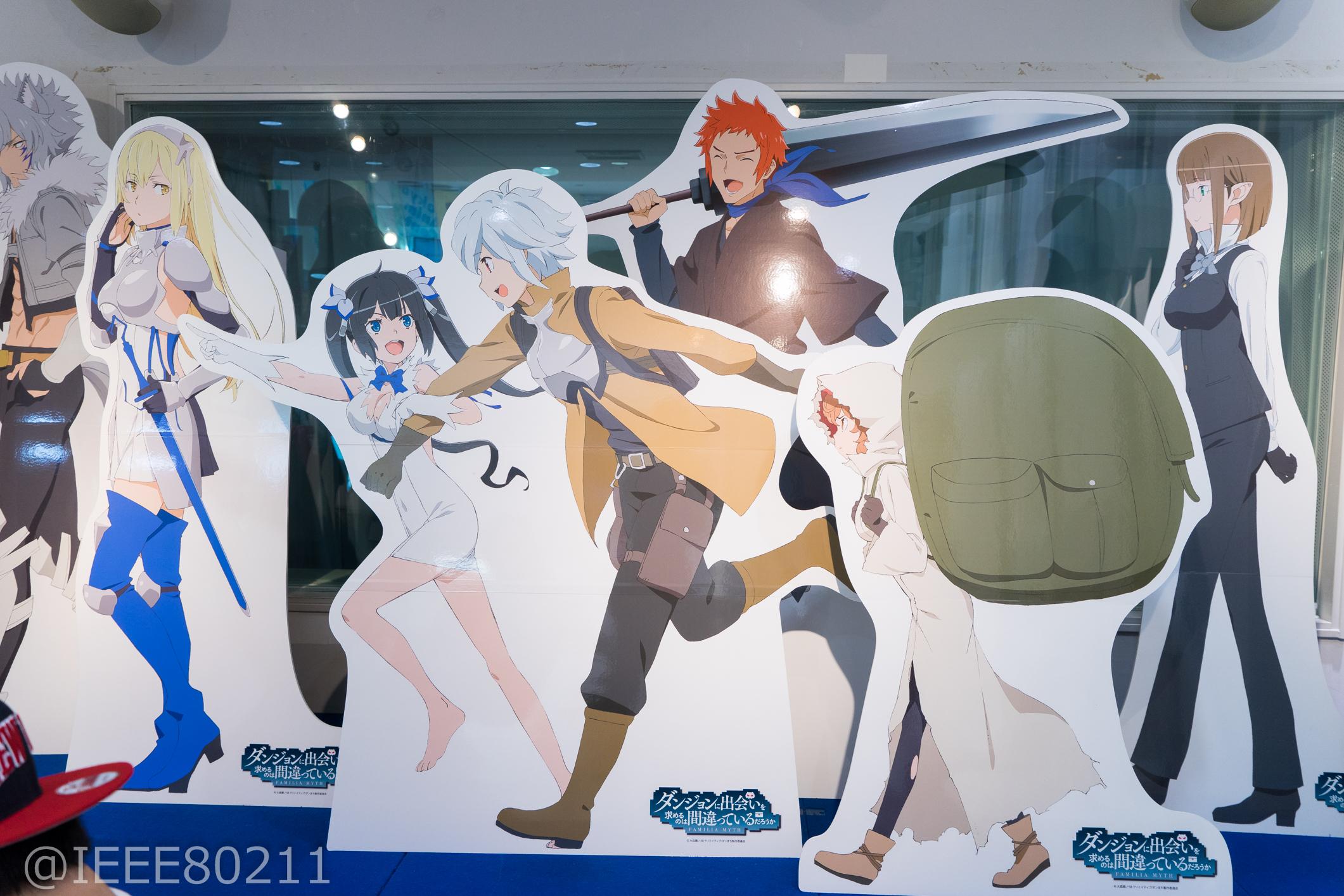 Dungeon ni Deai wo Motomeru no wa Machigatteiru Darou ka Danmachi Exhibition in Akiba Previewed 003