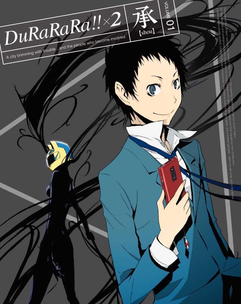 Durarara!!x2 Shou Blu-Ray Volume 1 Cover Revealed haruhichan.com Durararax2 shou volume 2 cover