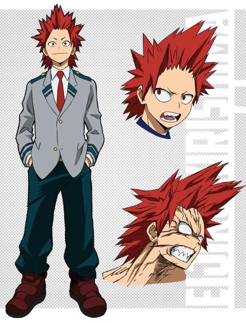 Eijirou Kirishima and Denki Kaminari Boku no Hero Academia Character Designs Revealed 3