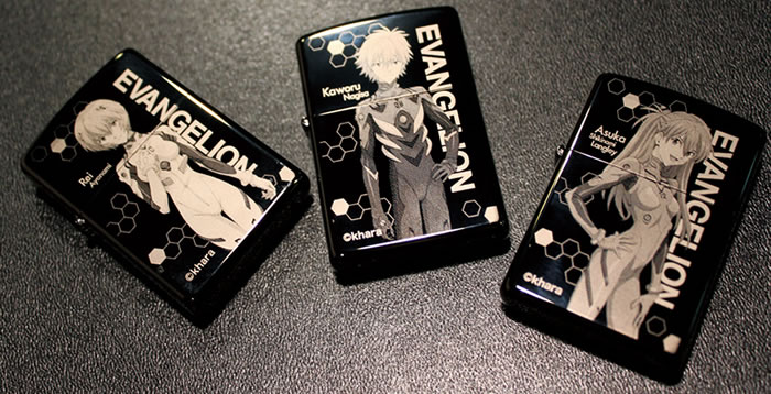 Evangelion Store Releases New Zippo Lighters of the Main Cast for 20th Anniversary