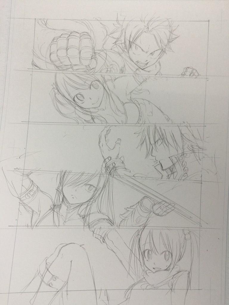 Fairy Tail Author Hiro Mashima Shares Lucy Heartfilia Christmas Illustration haruhichan.com Fairy Tail Hiro Mashima sketch 4