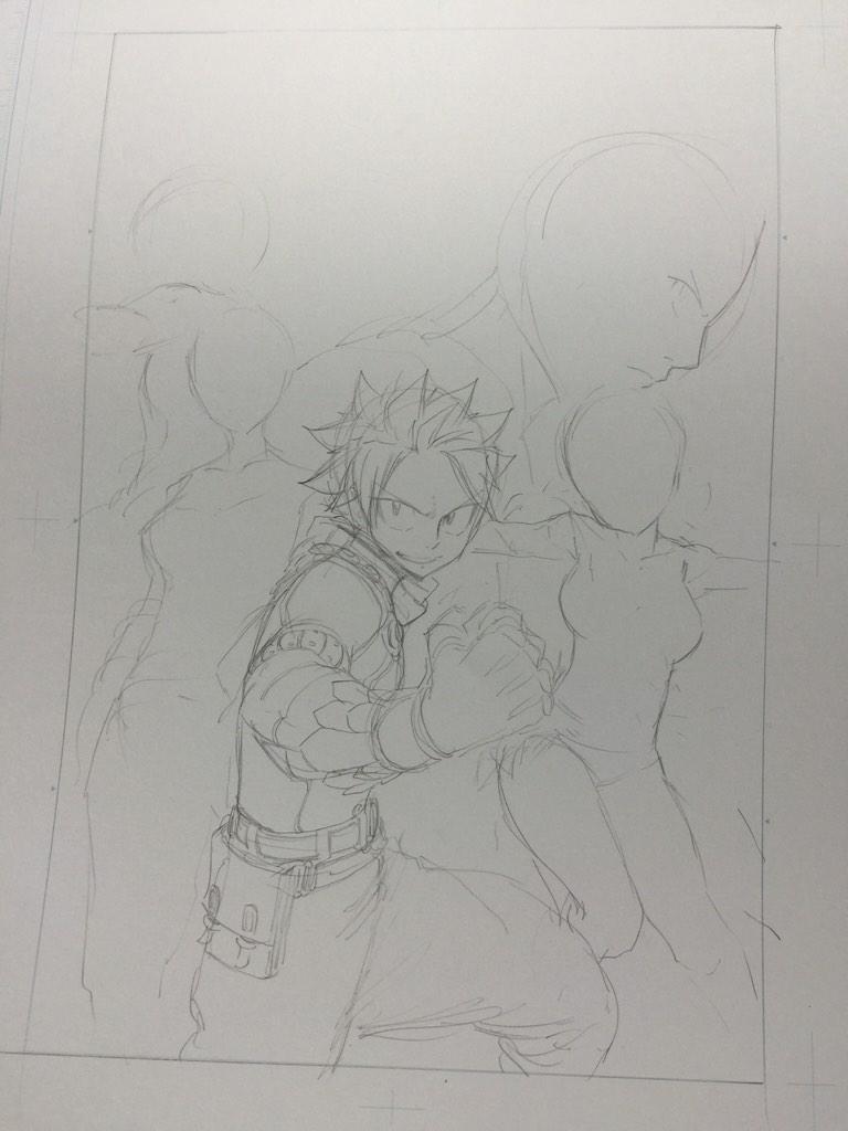 Fairy Tail Author Hiro Mashima Shares Lucy Heartfilia Christmas Illustration haruhichan.com Fairy Tail Hiro Mashima sketch 5
