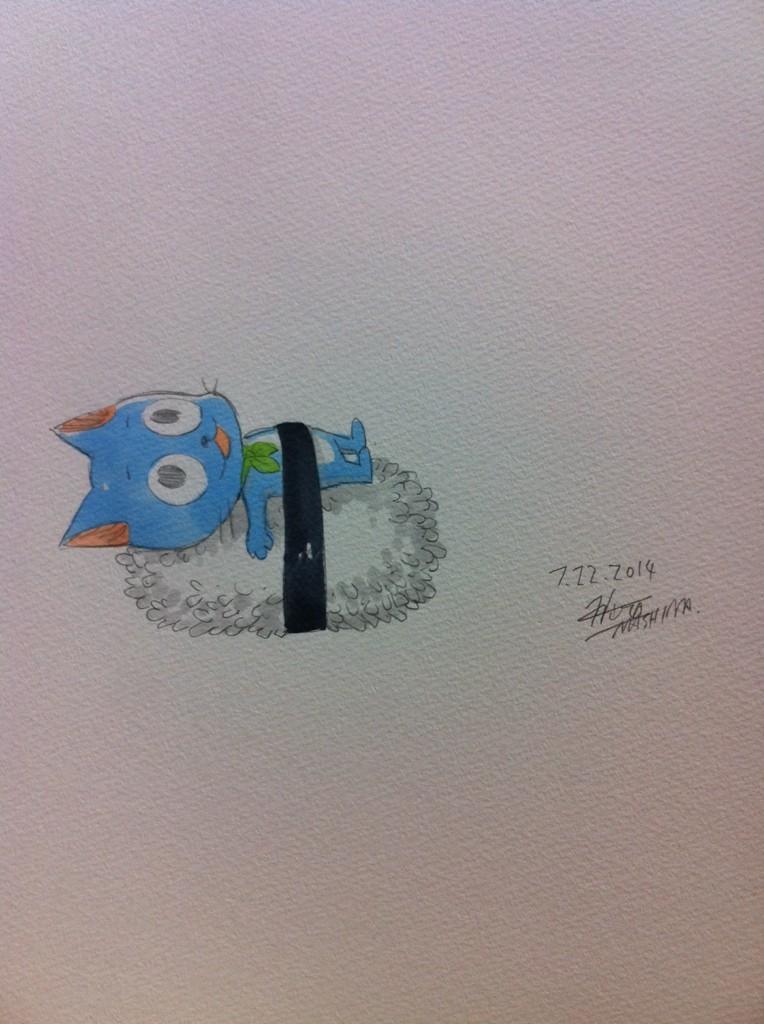 Fairy Tail Author Hiro Mashima Shares Summer Sketches on Twitter Happy Sushi haruhichan.com