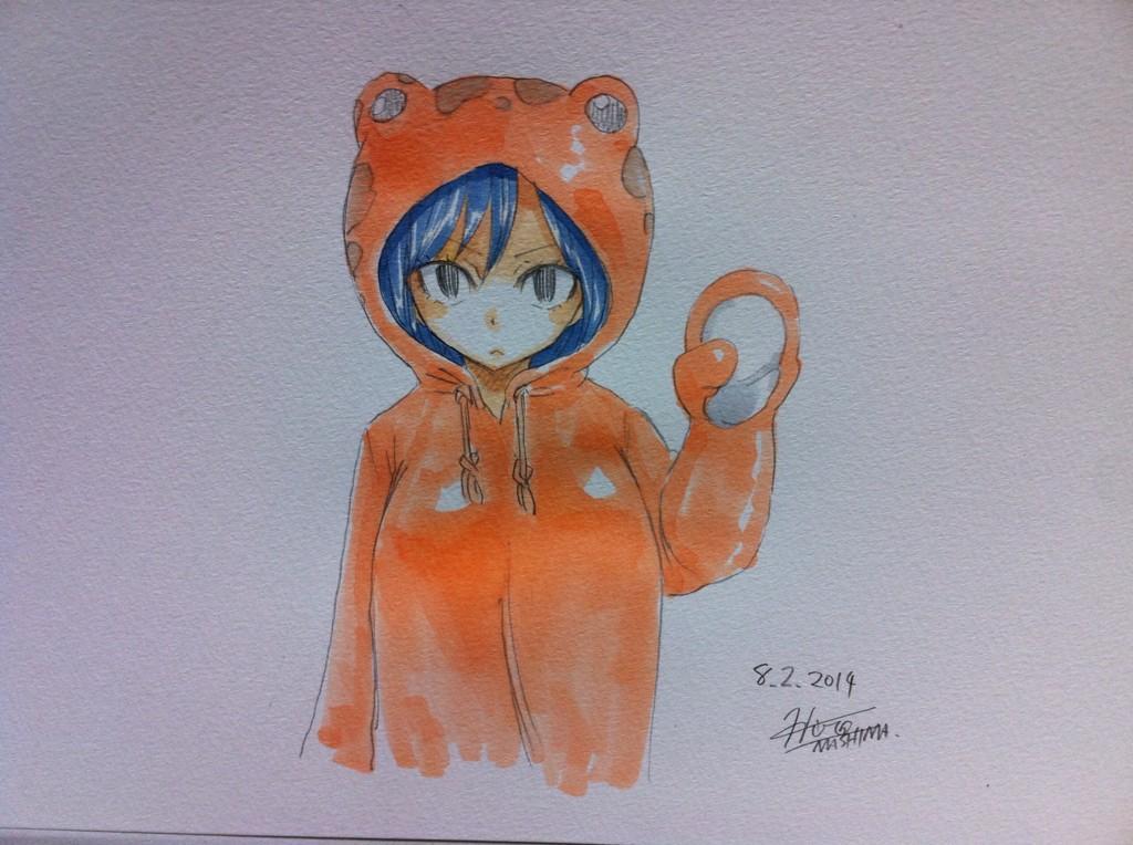 Fairy Tail Author Hiro Mashima Shares Summer Sketches on Twitter Juvia Lockser haruhichan.com