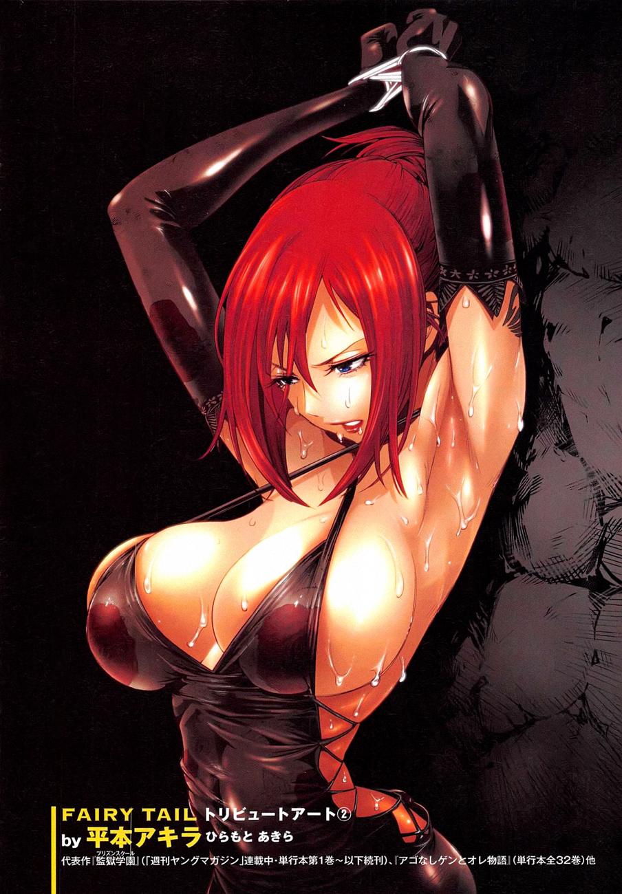 Fairy-Tail-Erza-Scarlet-tied-up-drawn-by-Akira-Hiramoto-School-Prison-Author-Hiro-Mashima-Haruhichan.com-manga-lewd