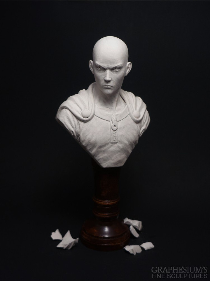Fan Creates Lifelike Saitama Bust Sculpture
