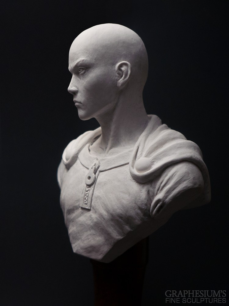 Fan Creates Lifelike Saitama Bust Sculpture 2