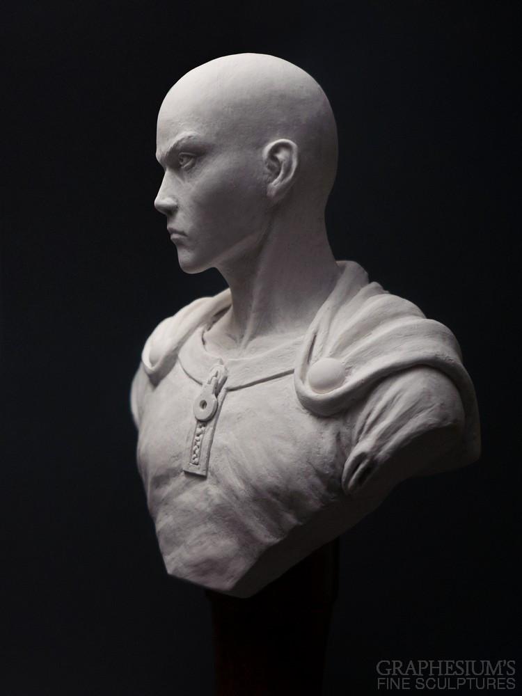 Fan Creates Lifelike Saitama Bust Sculpture 2
