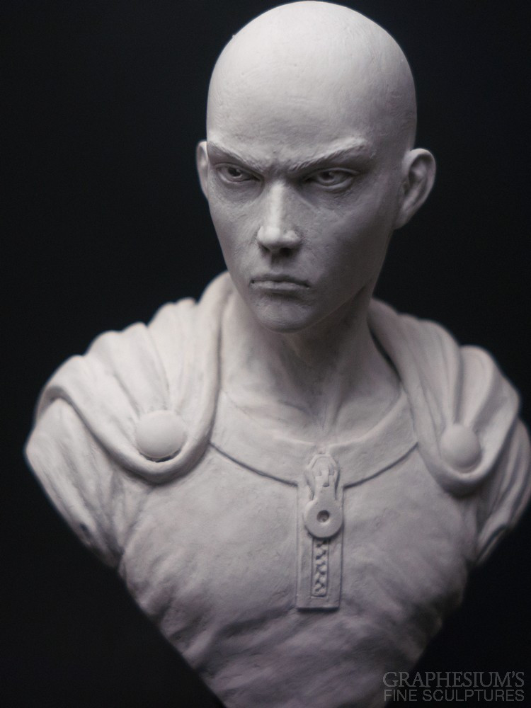 Fan Creates Lifelike Saitama Bust Sculpture 3