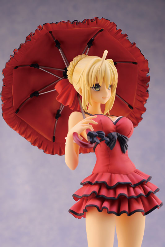 Fate EXTRA CCC Saber 1 7 scale anime Figure One-piece Dress ver 014