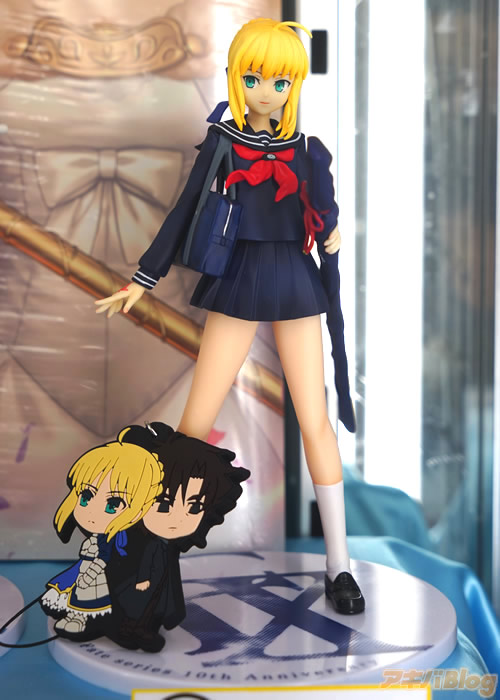 Fate Series Celebrates 10th Anniversary with a Ichiban Kuji Lottery Haruhichan.com anime D Prize School Girl Saber