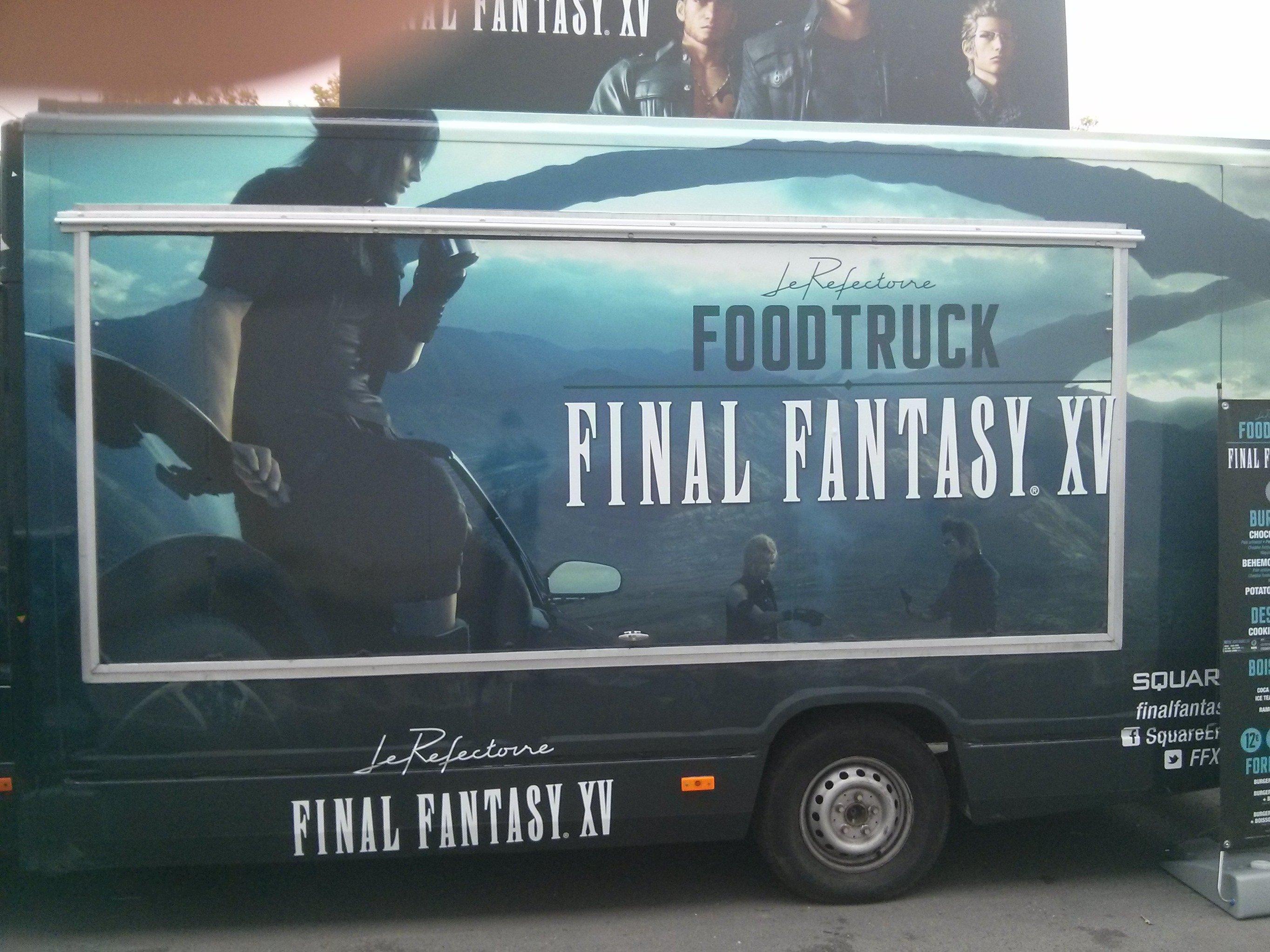 Final Fantasy XV Food Truck Serves Burgers 1