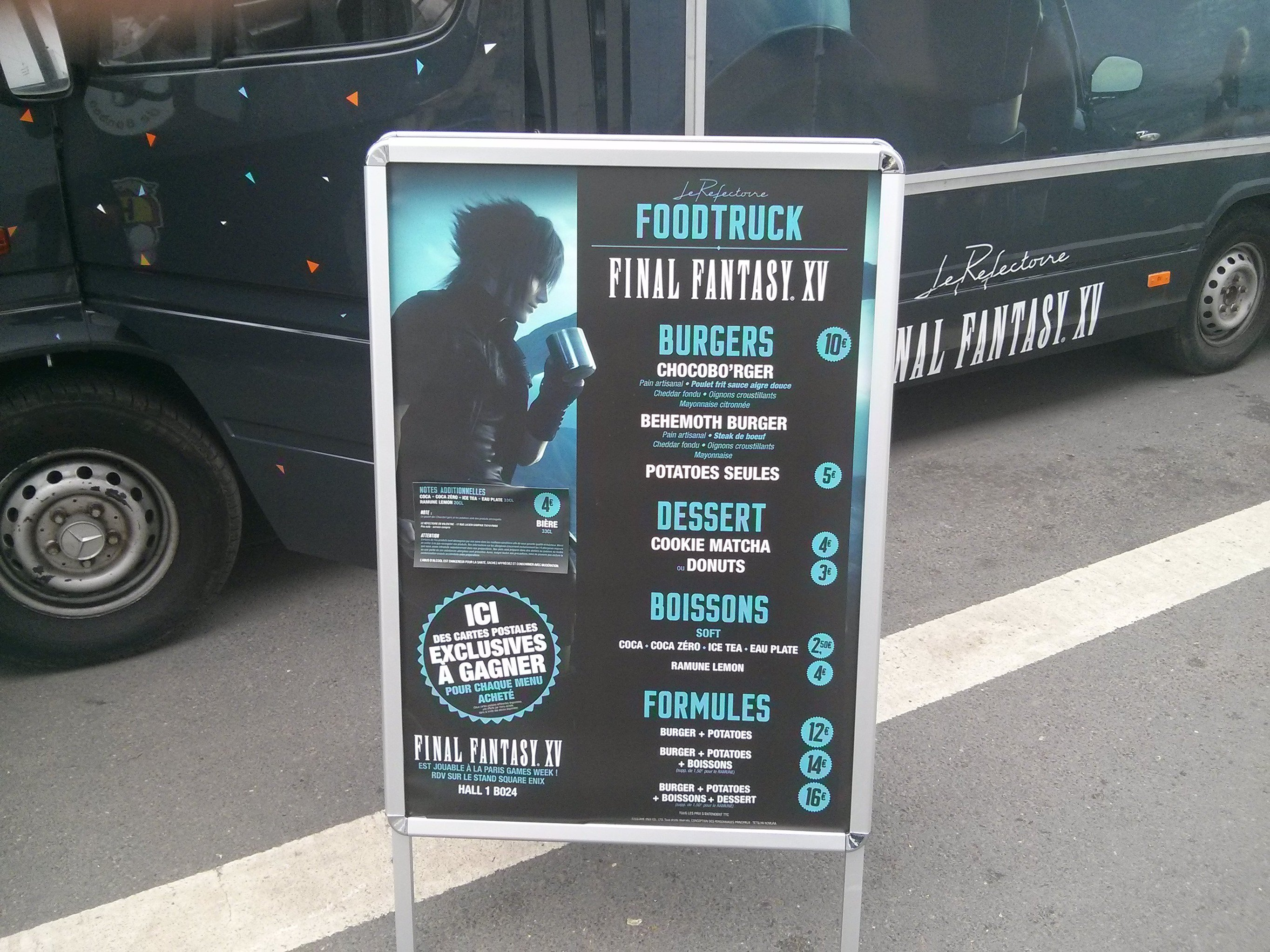 Final Fantasy XV Food Truck Serves Burgers 3