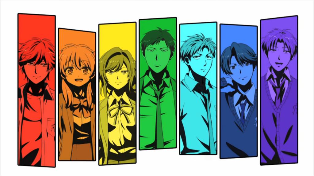 From left: Mikoshiba, Chiyo,  Suzuki, Nozaki, Hori, Kashima, Wakamatsu.
