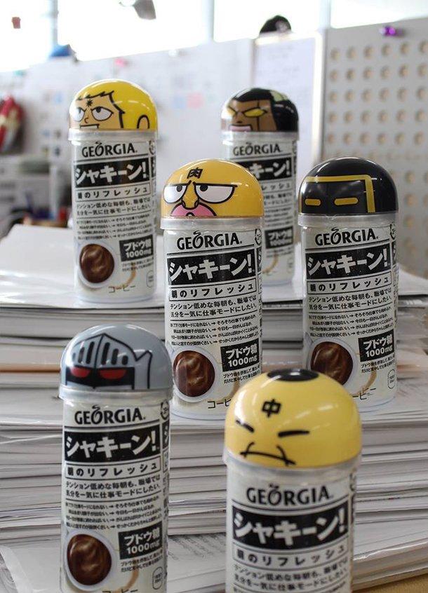 Georgia Coffee Promotion Includes Classic Anime Kinnikuman Figures haruhichan.com Muscleman anime キン肉マン 1