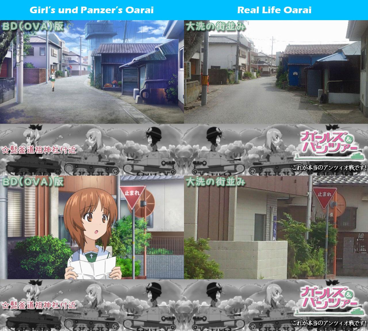 Girls-Und-Panzer-Kore-Ga-Hontou-No-Anzio-Sen-Desu-Real-Life-Comparison-Oarai_Haruhichan.com