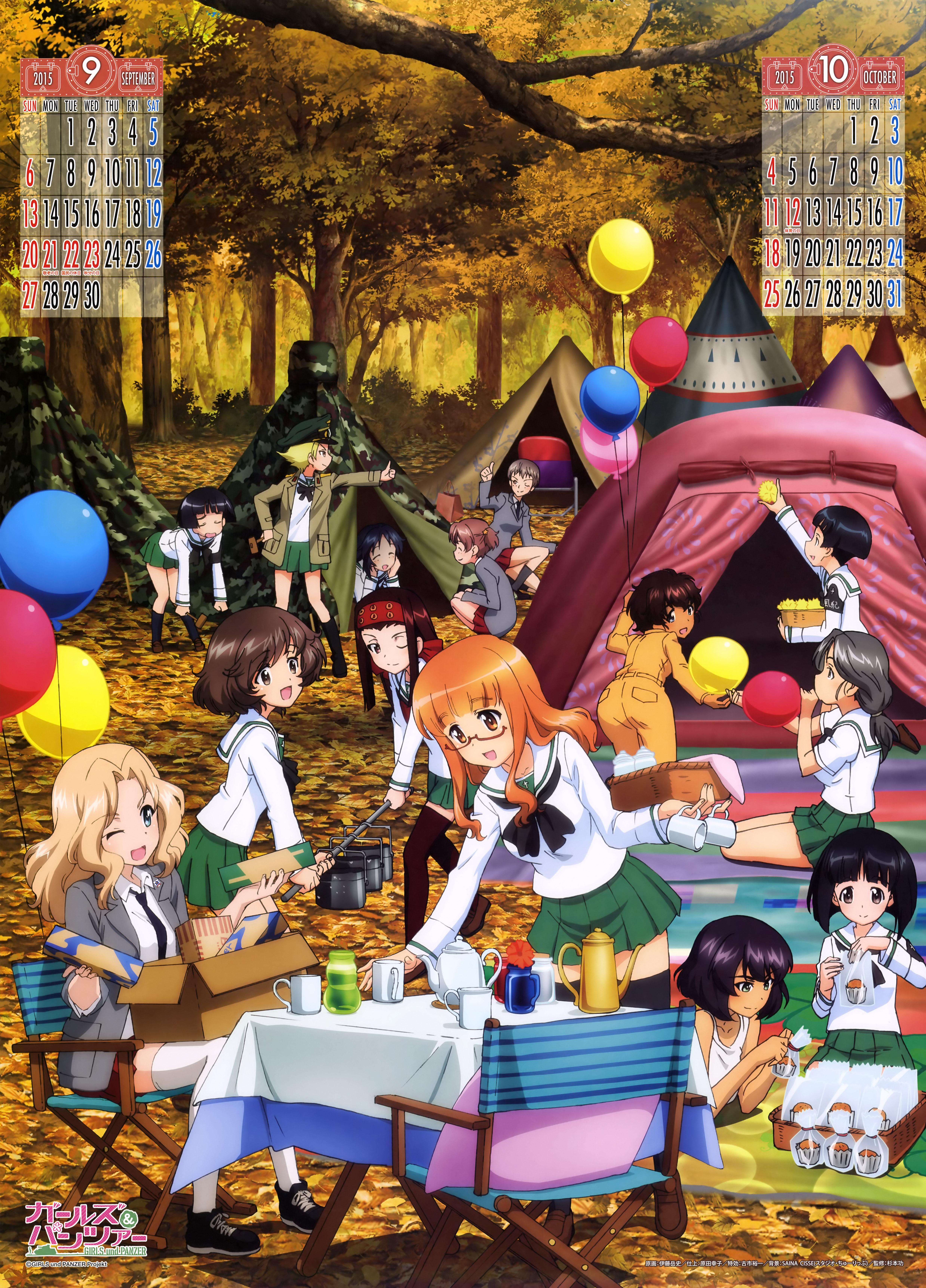 Girls und Panzer 2015 Calendar Previewed Haruhichan.com Gurapan calendar 6