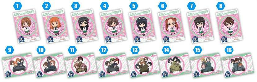 Girls und Panzer Chara Hobby 2014 C3 X Hobby booth D Prize Stickers haruhichan.com GuP ガールズ&パンツァー